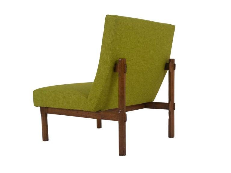 Fabric Three Italian Modern Ico Parisi Chairs in Walnut Model 869, 1960s For Sale