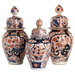 Three Japanese Imari Vases, Early 20th Century