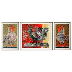 Three Jean Lurcat Colorful Screen Prints