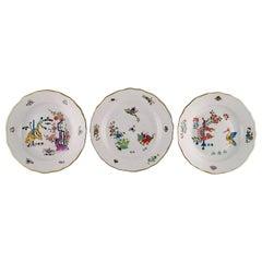 "Three ""Kakiemon"" Meissen Plates Decorated with Japanese Motifs, circa 1900"