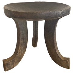 Three-Legged Tribal Stool attributed to the Oromo from Ethiopia, Africa