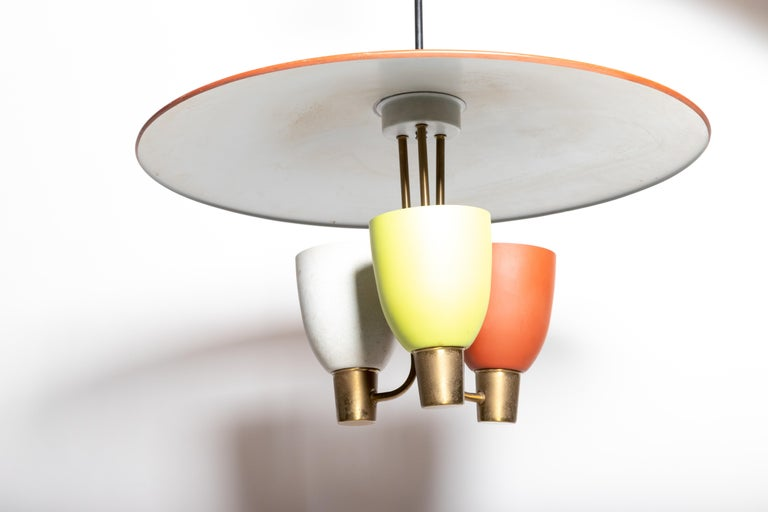 Three Light Ceiling Fixture, 1950's For Sale 1