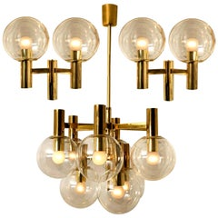 Three-Light Fixtures in the Style of Hans Agne Jakobsson, Sweden, 1960
