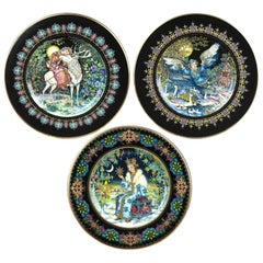 Three Magical Fairy Tales Old Russia Plates by Gere Fauth