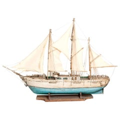 Three Masted Gaff Rigged Schooner