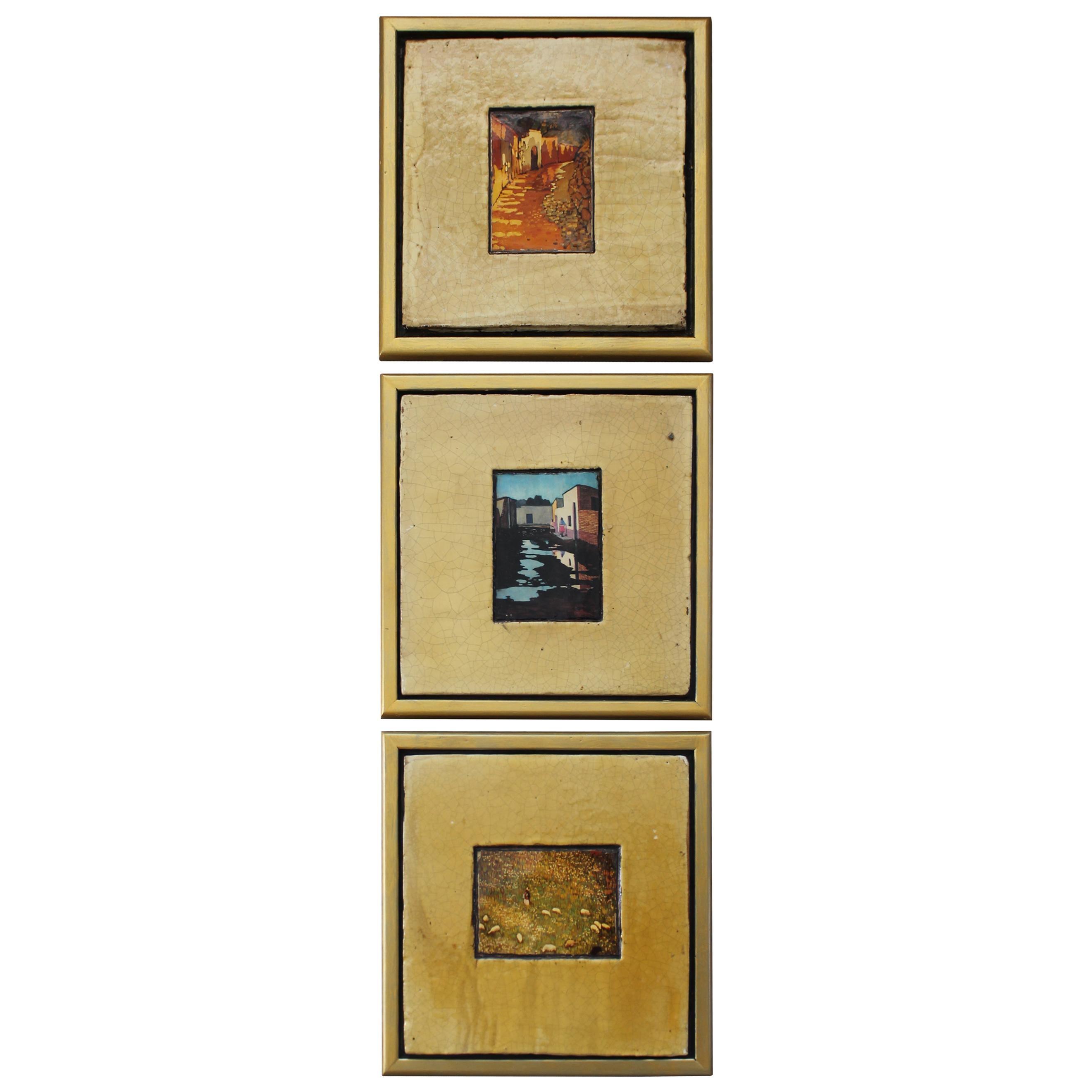 Three Mexican Art Tiles by Daniel Rueffert