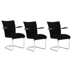 Three Mid-Century Modern Tubular Steel Model 1018 Lounge Chairs by Toon de Wit