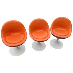 Three Mid-Century Modern Tulip Chairs
