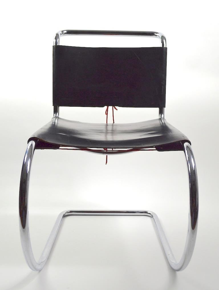 International Style Three MR Chairs design by Ludwig Mies van der Rohe For Sale