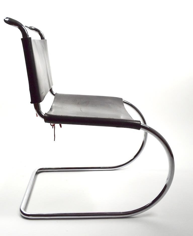 Three MR Chairs design by Ludwig Mies van der Rohe In Good Condition For Sale In New York, NY