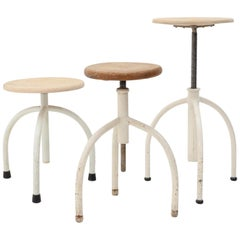Three Oostwoud Medical Three Leg Stools