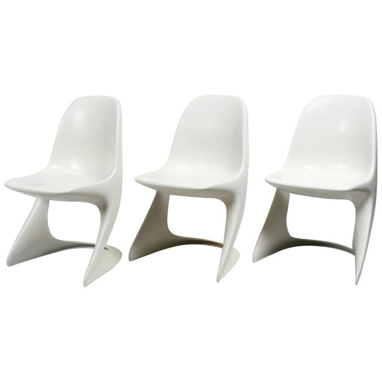 Three Original Casalino Chairs from Casala Model 2004/2005 from 1973 and 1980 For Sale