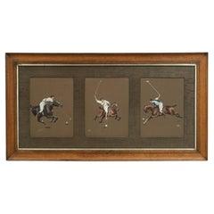 Three Original Polo Paintings by George Rowlandson