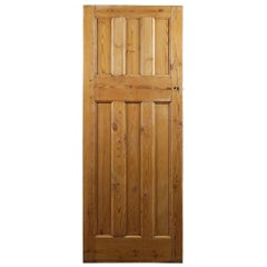 Three over Three Old Pine Internal Door, 20th Century