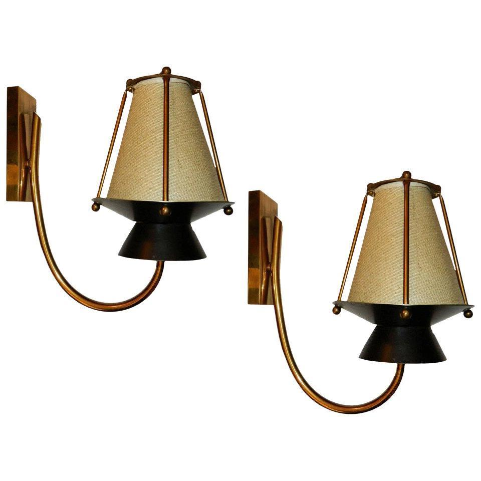 Three Pairs Available of circa 1940s French Sconces