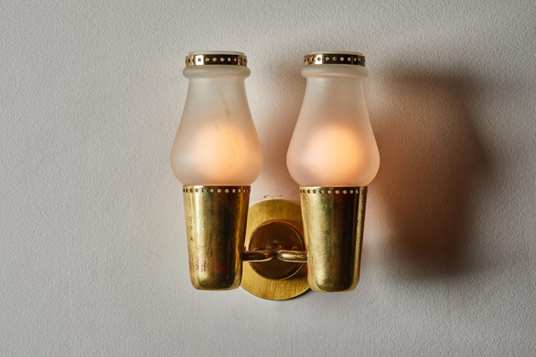 Mid-Century Modern Three Pairs of Sconces by Gino Sarfatti For Sale