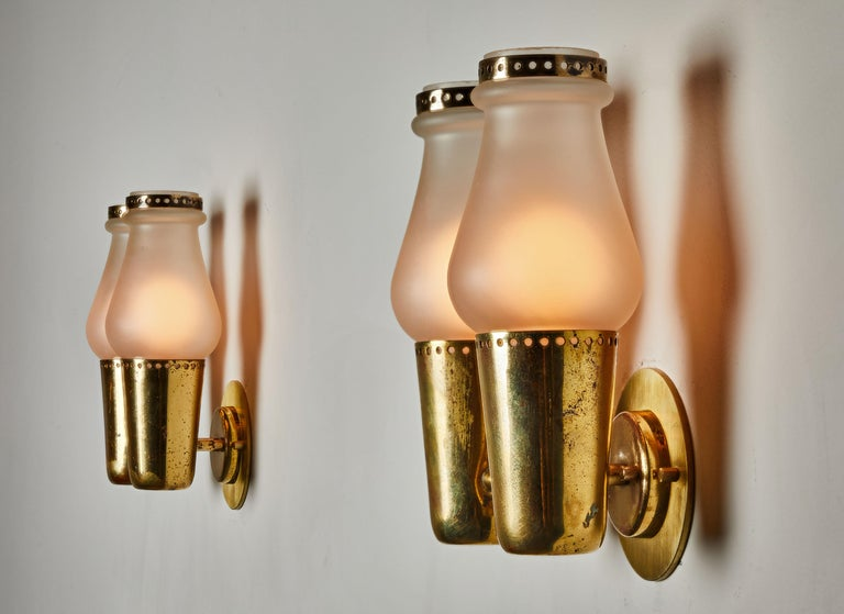 Italian Three Pairs of Sconces by Gino Sarfatti For Sale