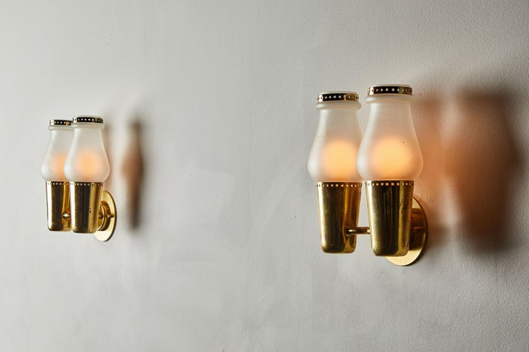 Three Pairs of Sconces by Gino Sarfatti In Good Condition For Sale In Los Angeles, CA