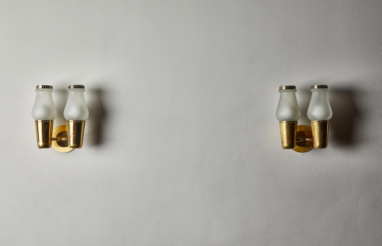 Mid-20th Century Three Pairs of Sconces by Gino Sarfatti For Sale
