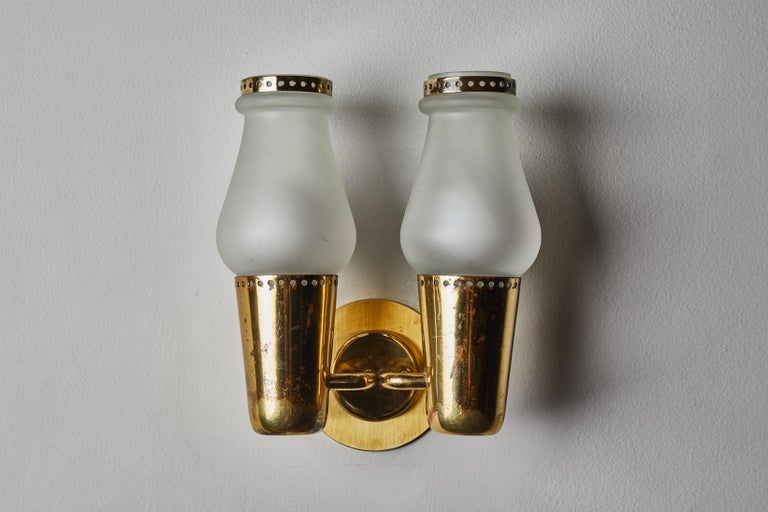 Brass Three Pairs of Sconces by Gino Sarfatti For Sale