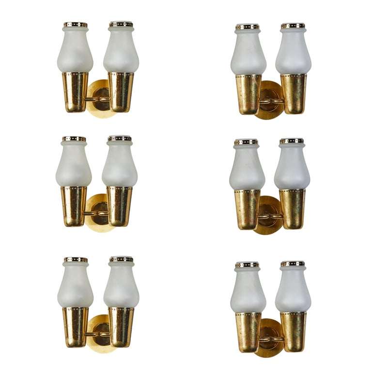 Three Pairs of Sconces by Gino Sarfatti For Sale