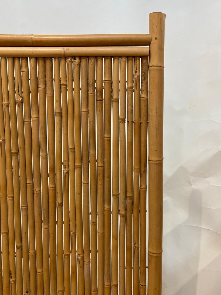 Three Panel Bamboo Screen For Sale 1