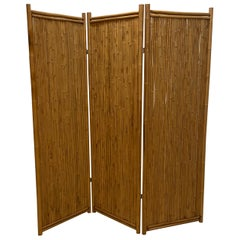 Three Panel Bamboo Screen