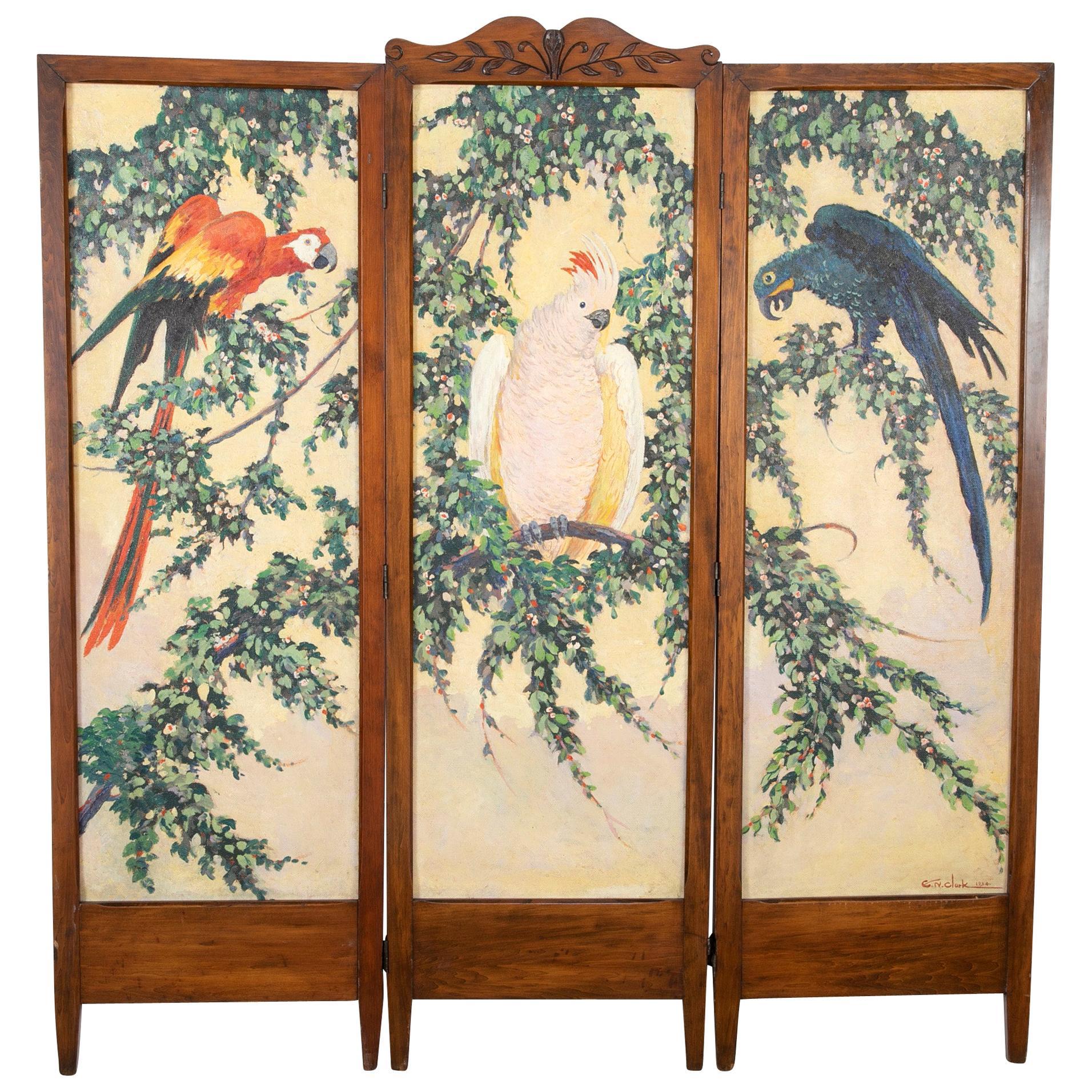 Three-Panel Folding Screen by Egbert Norman Clark