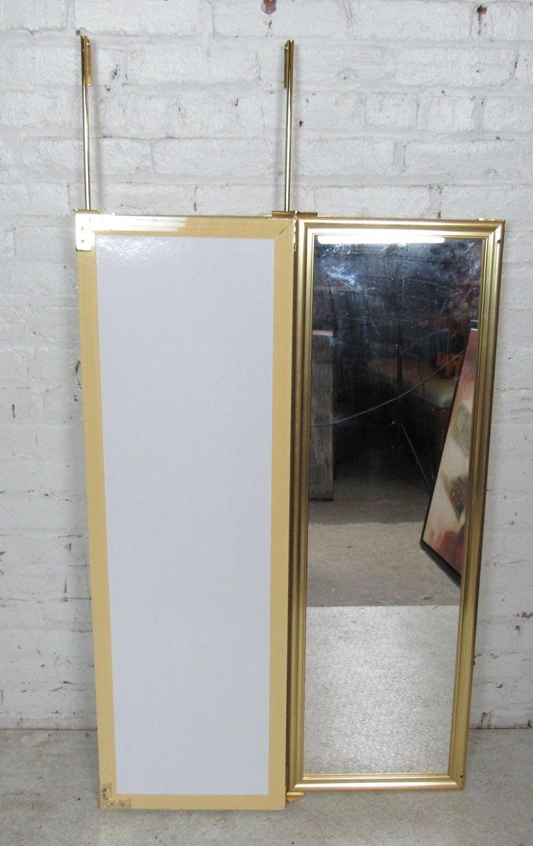 Mid-Century Modern Three-Panel Hanging Mirror For Sale
