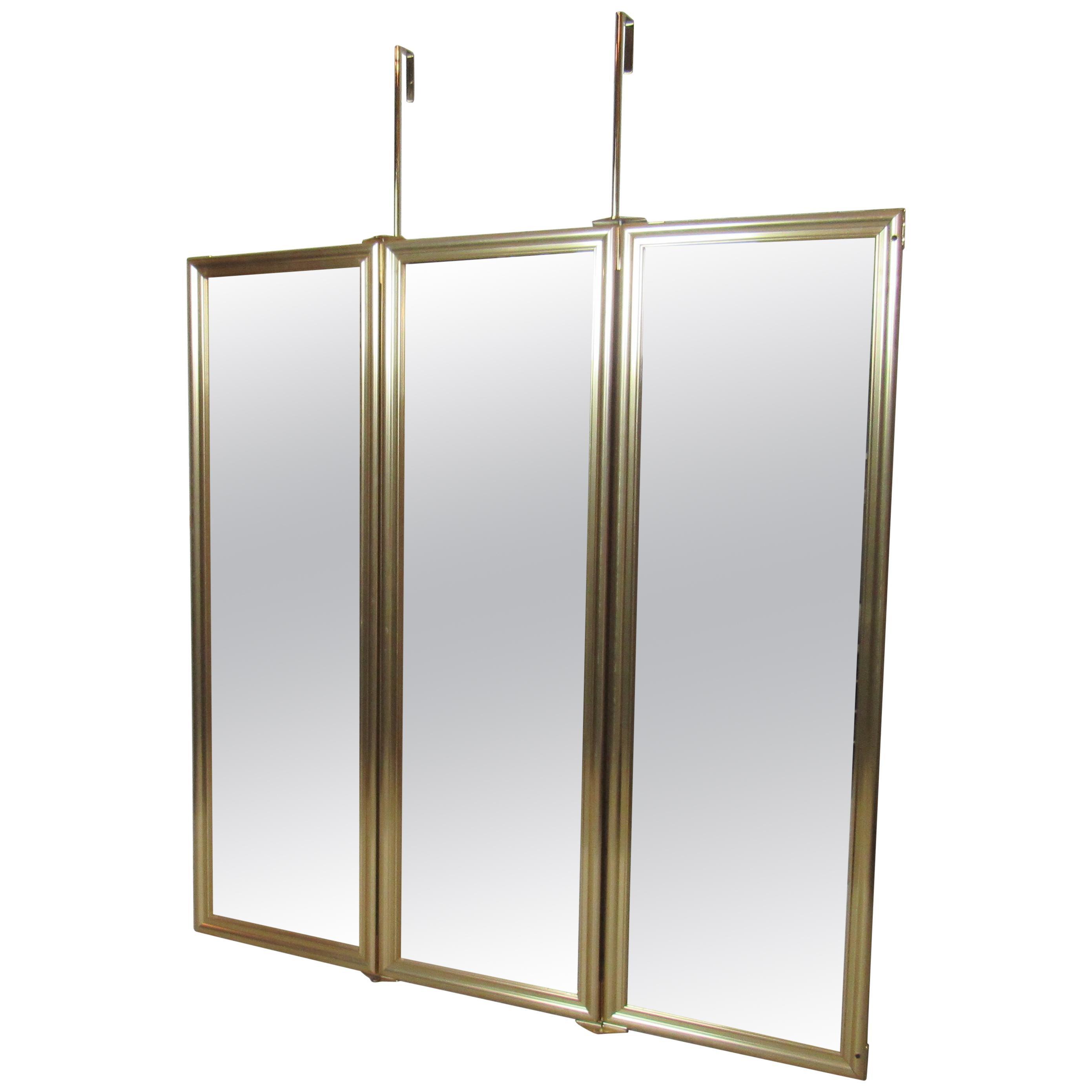 Three-Panel Hanging Mirror