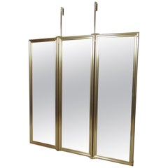Three-Panel Hanging Mirror
