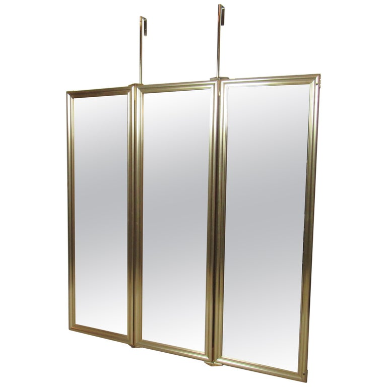 Three-Panel Hanging Mirror For Sale