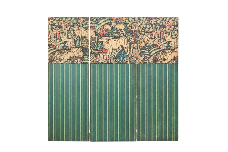 Three Panels Ludwig Heinrich Jungnickel Design for the Palais Stoclet circa 1909 For Sale 2
