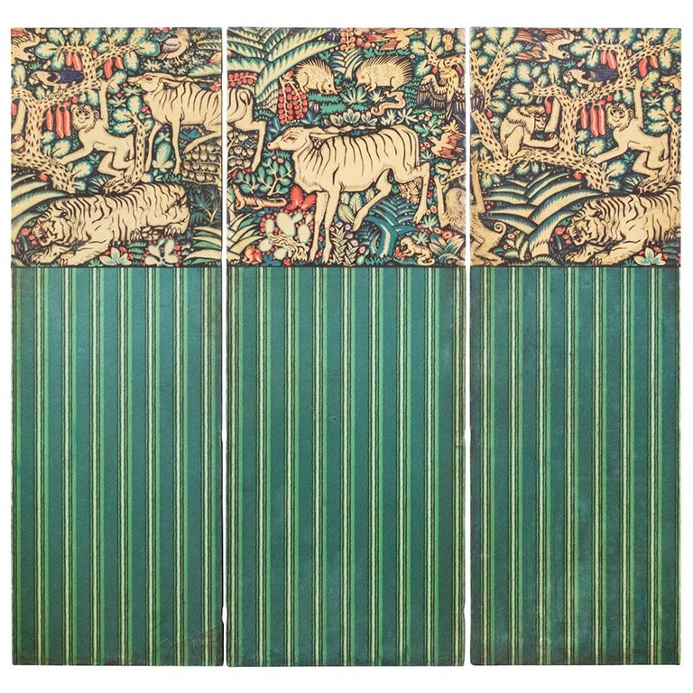 Three Panels Ludwig Heinrich Jungnickel Design for the Palais Stoclet circa 1909 For Sale