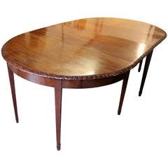 Three Part 18th Century Dining Table in Rich Warm Mahogany