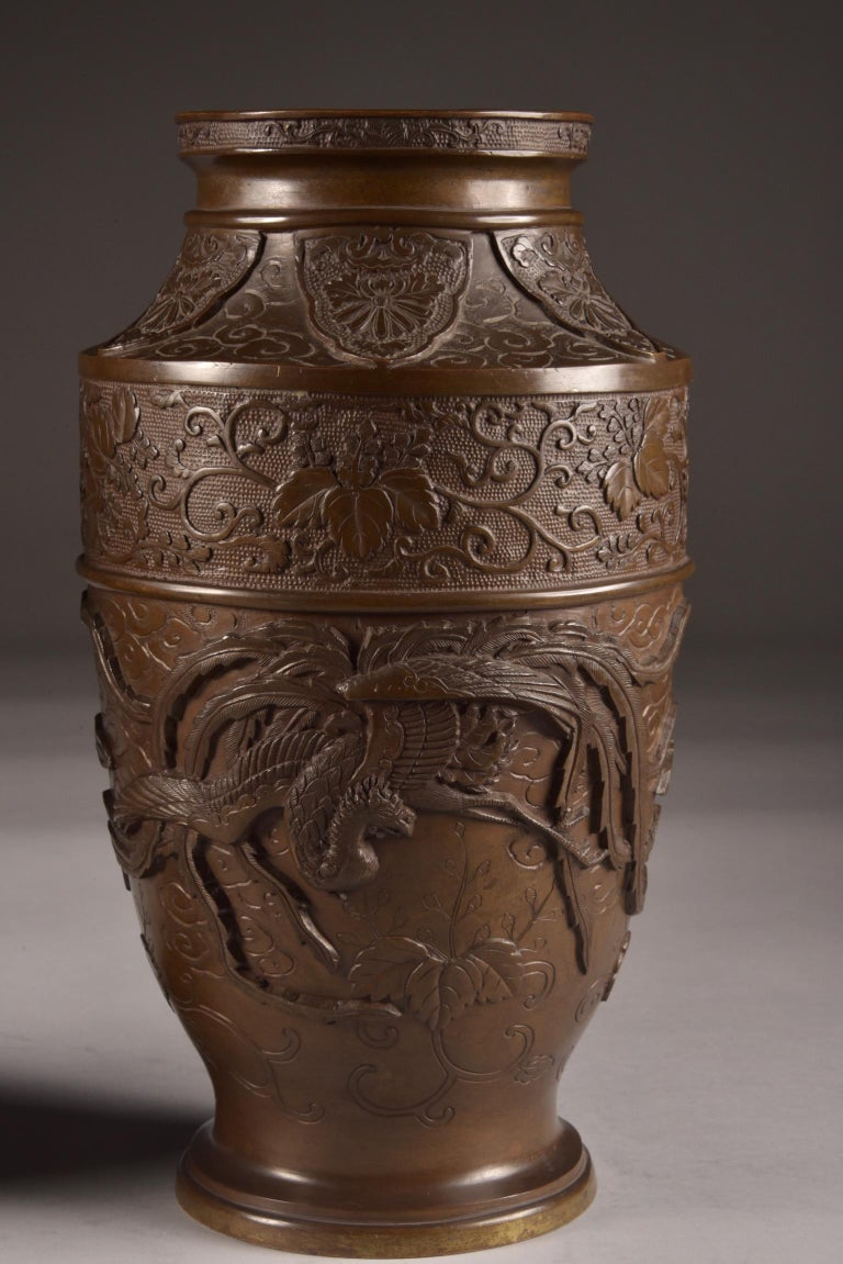 Three-Part Bronze Japanese Incense Burner, Meiji Period, Late 19th Century For Sale 6