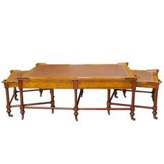 Three-Part Mahogany Living Room Table Set