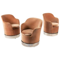 Three Philip Enfield Swivel Chairs