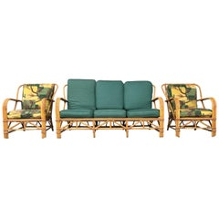 Three Piece Bamboo/ Rattan Living Room Suite Attribute to Ritts Tropitan