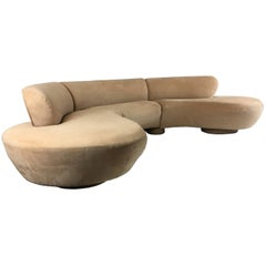 Three-Piece Cloud Sofa Sectional by Vladimir Kagan for Directional