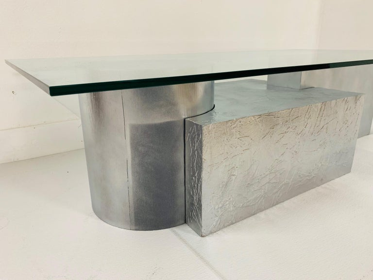 Late 20th Century Three-Piece Geometrical Coffee Table For Sale