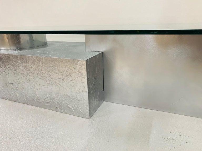 Three-Piece Geometrical Coffee Table For Sale 1