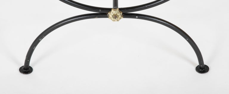 Three Piece Iron and Brass Coffee Table with Versace Insets For Sale 10