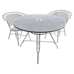 Three-Piece Mid-Century Modern Russell Woodard Style Patio Dining Set