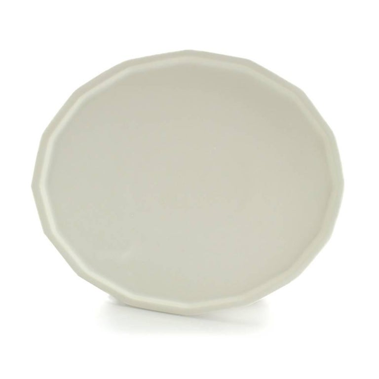 American Three-Piece Place Setting for 8 Matte White Dinnerware Setting Modern Porcelain For Sale