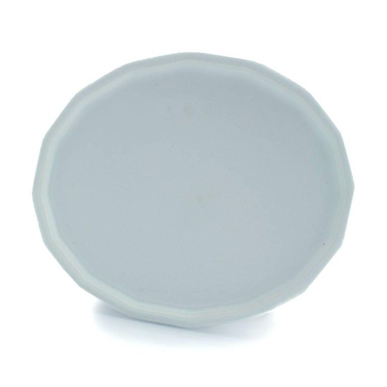 American Three-Piece Place Setting for Eight Matte Dinnerware Setting Modern Porcelain For Sale