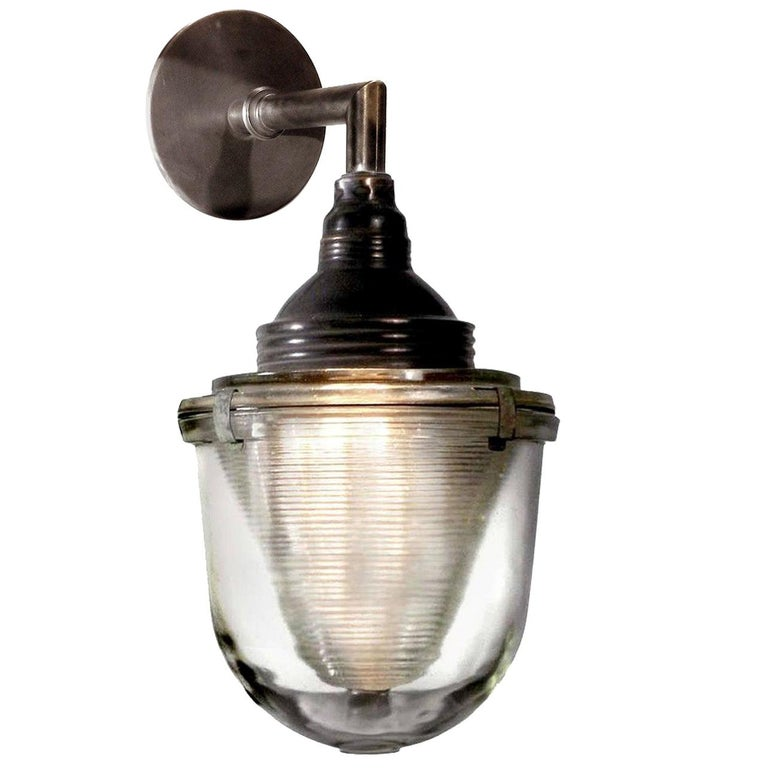 Three-Piece Prismatic Sconce For Sale