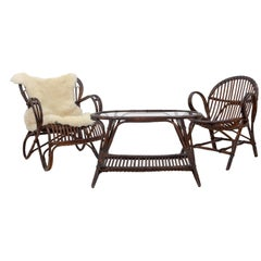 Three-Piece Rattan Set Rohe Noordwolde
