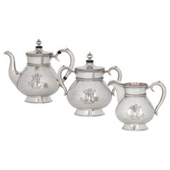 Three-Piece Russian Silver Tea Set