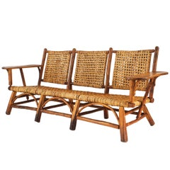 Three Piece Rustic Old Hickory Salon Set